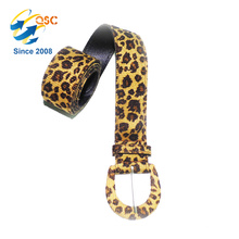 Cinto De Couro Genuíno De Moda Leopardo