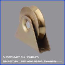 Roue trapézoïdale trapézoïdale en gros de poulie de porte d'usine