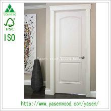 Moderne populäre gewölbte Platten-weiße Holztür