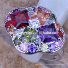 grands anneaux bijoux grand anneau de diamant de pierre de couleur conception spéciale porte-clés