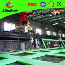 Floor Trampoline/Indoor Trampoline Park/Big Indoor Trampoline/ Bungee Jumping Trampoline Bed