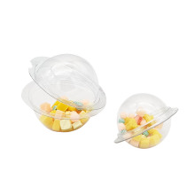 Caixa de embalagem de plástico com enfeites transparentes personalizados para bolas de natal