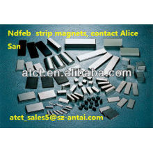 Block Neodymium Magnetic Strip Magnet for sale