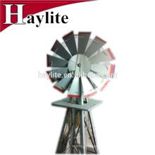 Moulin à vent en métal coloré de manteau de poudre pour des décorations