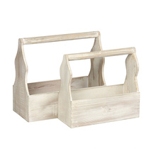 Home Garden Stacking Solid Vintage French Fruit wholesale wooden crate