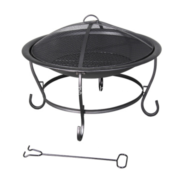 "29 ""Round Steel Wood-Burning Fire Pit"