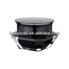 15ml 30ml 50ml de diamante Black Acrylic Cosmetic Jar
