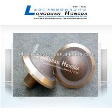 Coulée en laiton ou en cuivre, en cuivre
