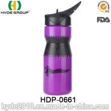 Botella de agua corriente plástica libre de 2017 BPA, botella de agua plástica del deporte del PE (HDP-0661)