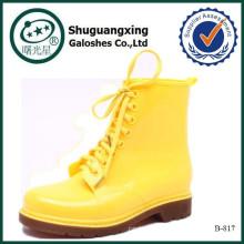 lady semelle de chaussure en caoutchouc faite en Chine talons hauts femmes bottes 2015 B-817