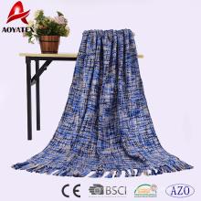 Preço de fábrica barato Acrílico hand made throw malha cobertor