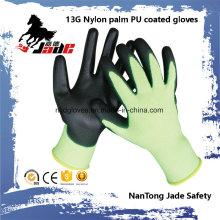 13G Nylon Palm Black PU Coated Glove