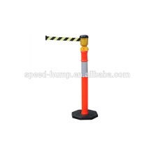 Fita retrátil da barreira das listras do T-Parte superior do comprimento de 9Meter