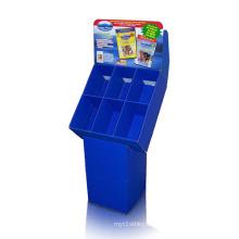 Dumpbins de exhibición de la cartulina de Serviceable con 6 unidades, exhibición acanalada del estallido
