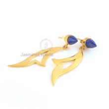 Lapis Ohrringe, 925 Sterling Silber Ohrringe für Geburtstagsgeschenk
