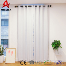 Darkening Thermal Insulated solid hotel blackout window curtain