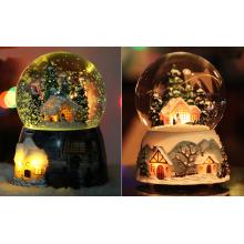 Beleuchtung Kristall Ball Spieluhr mit Schneeflocke