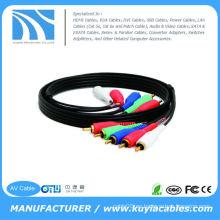 Cable de Vídeo Componente de 15 pies con Audio 5 RCA para HDTV DVD VCR