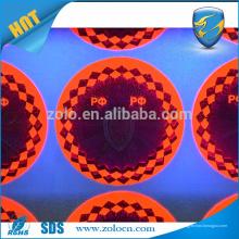 Impressão holográfica de tinta UV, adesivo personalizado de holograma UV