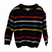 Boy's Pullover Sweater with Stripe, Made of 100% Cotton