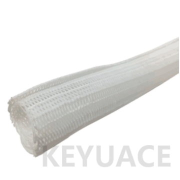 Putih Penutupan Diri Braided Cable Wrap Sleeving