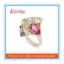 Fashion china factory direct wholesale jewelry ring pink sapphire ring
