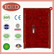 90mm Heat Transfer Security Steel Door KKD-708B with Double Leaf