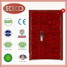 90mm calor transferência segurança porta de aço KKD-708B com folha dupla