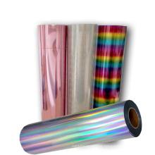 Easyweed Laser Foil HTV Rainbow PET Film Heat Transfer vinyl rolls for fabric