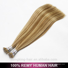Extensions de cheveux à double anneau nano-étiré