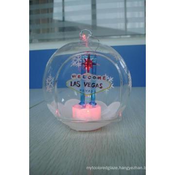 Glass Las Vegas Ornament LED Light (KLL83741-1A)