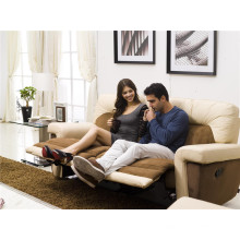 Echtes Leder Chaise Leder Sofa Elektrisch Verstellbares Sofa (702)