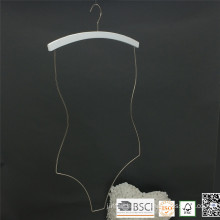 White Wooden Chrome Wire Swimwear Hanger for Bikini