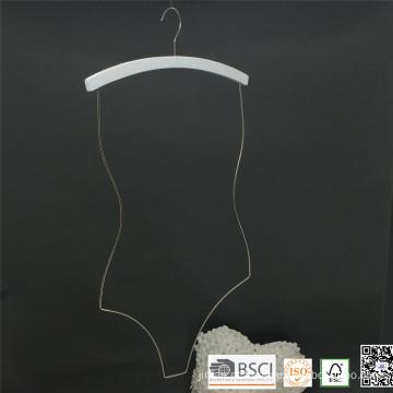 Cromo de madeira branco cabide Swimwear para biquini