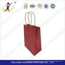 Kostenlose Probe Großhandel Werbepapier Tasche mit verschiedenen Griff Typen 15 * 21 * 8 cm