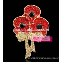 newest arrival lovely crystal kids girls brooch