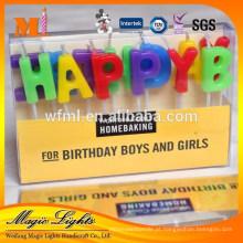 Carta em forma de velas especialmente para materiais de festa de aniversário
