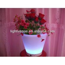 LED подсветка плантатора горшки подсветкой перезаряжаемые СИД сад цветочный горшок