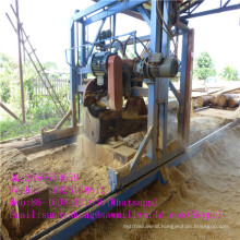 High Power Angle Wood Log Cutting Saw Mill Machine