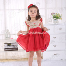 Flaming Red Girls 'vestido bordado de Smocked