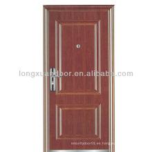 Puerta de madera clasificada fuego de 3 horas hace en China con el estándar de BS & GB