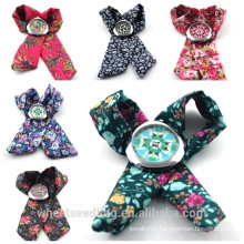 Vogue Fabric Band DIY Flower Print Fashion Geneva lady Wrapwatch, women DIY watch