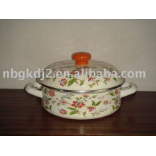 porcelain enamel seafood cookware with metal lid