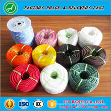 Precio de fábrica cuerda de poliéster doble trenzada