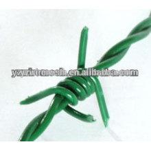 ¡Venta caliente! La alta calidad galvanizó el alambre de púas / el alambre de púas revestido PVC