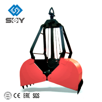 Electric Hydraulic Double Petal Grab for Bulk Cargo, Grab Bucket