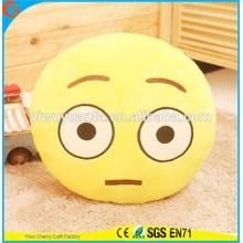 Design de novidade de alta qualidade Decorativo Emoji Expressão facial Almofada de pelúcia Almofada Emoji