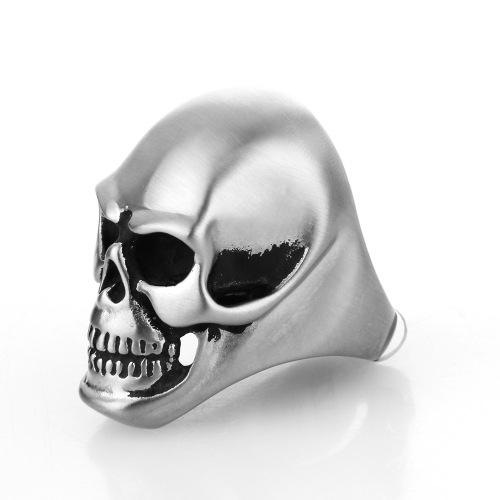 Titanium steel ring colored skull