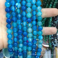 cristal cuarzo 8 mm facetas piedras preciosas redondas jade joyas de piedra cuentas