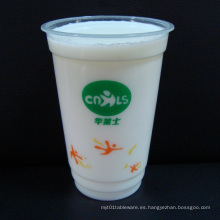 Tazas de té de burbujas transparentes desechables transparentes de plástico